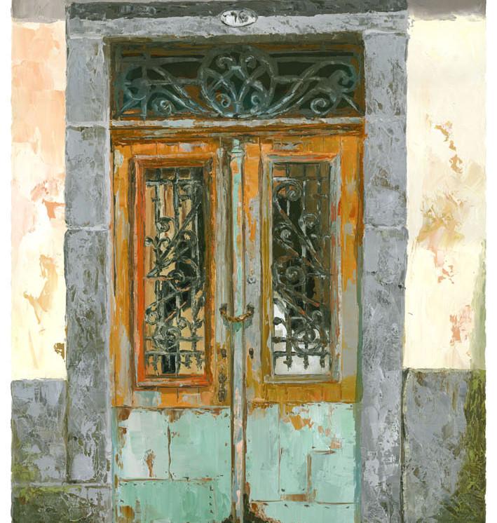 Old door in Porto