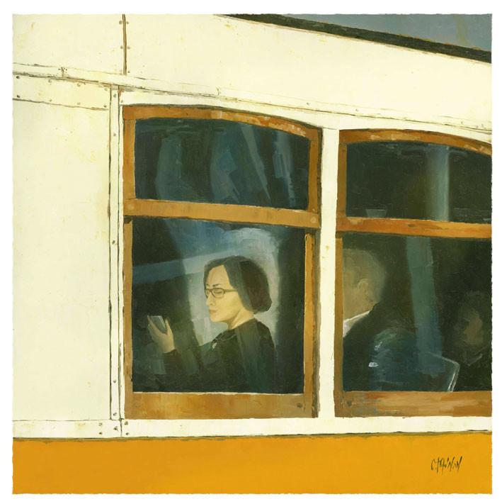 Strange Icône in Window tram lisbon