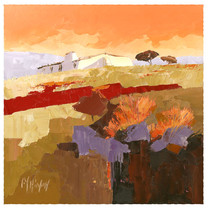 Landscape orange sky