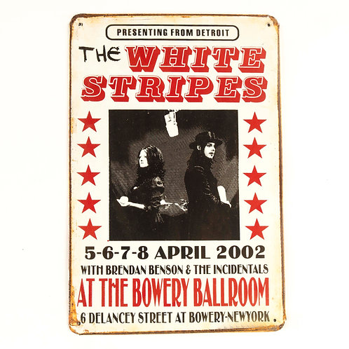 The White Stripes Tin Sign