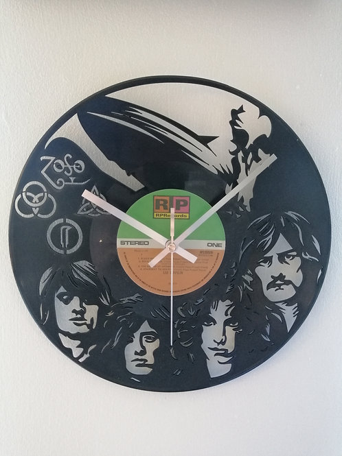 Led Zepplin Carved Vinyl Clock
