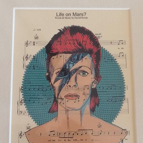 David Bowie Sheet Music Print