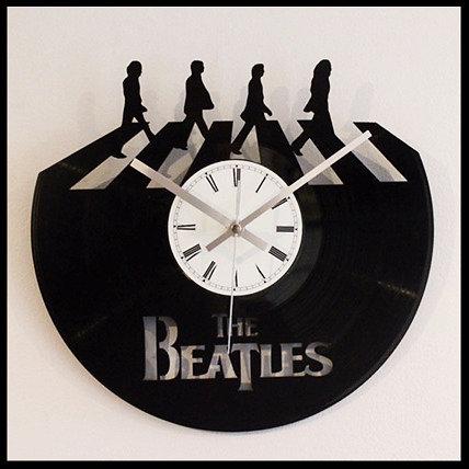 The Beatles Abbey RoadCut Vinyl Clock