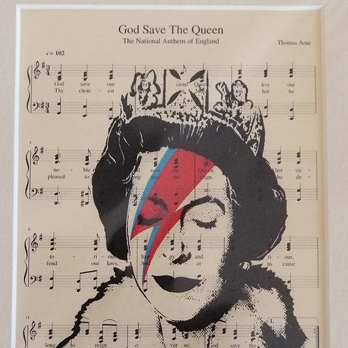 The Queen Sheet Music Print