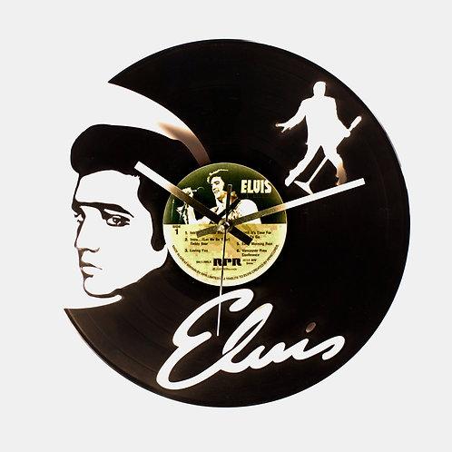 Elvis Cut Vinyl Clock