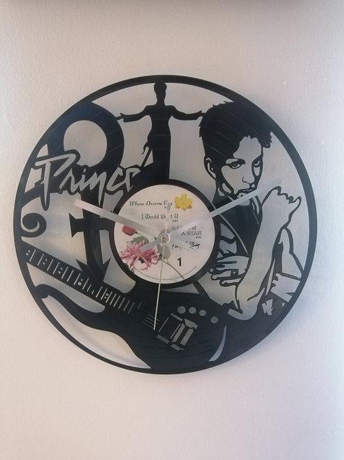 Prince Carved Vinyl Clock