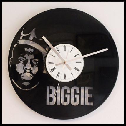 The Notorious B I G Cut Vinyl Clock