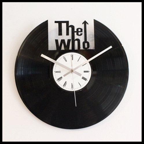 The Who Cut Vinyl Clock