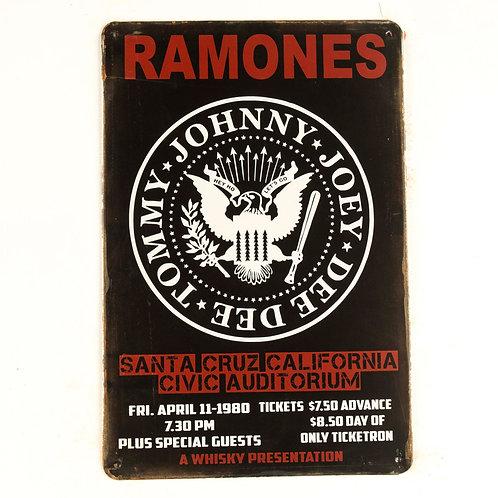 The Ramones Tin Sign
