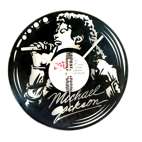 Michael Jackson Carved Vinyl Clock