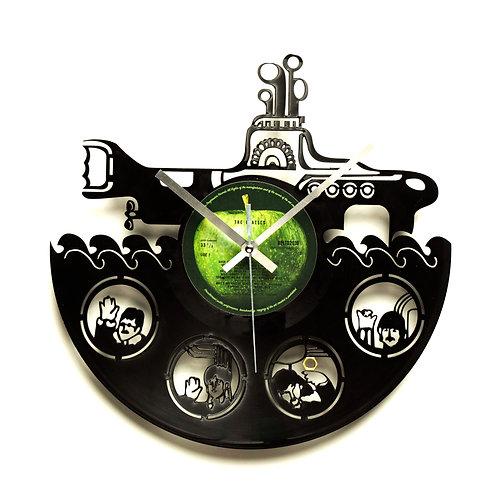 "The Beatles ""Yellow Submarine"" Cut Vinyl Clock"