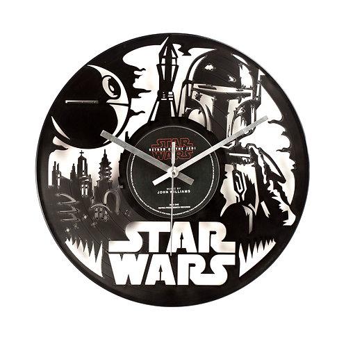 Star Wars - Boba Fett Cut Vinyl Clock