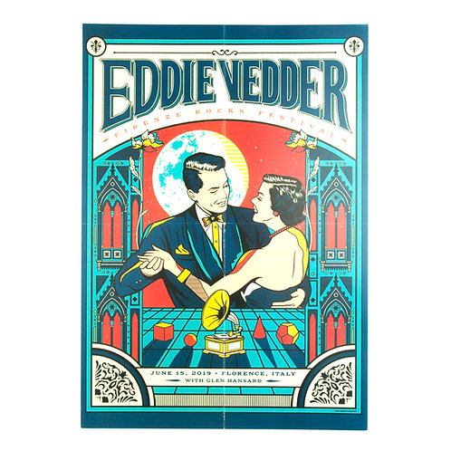 Eddie Vedder (Pearl Jam Front man) Poster