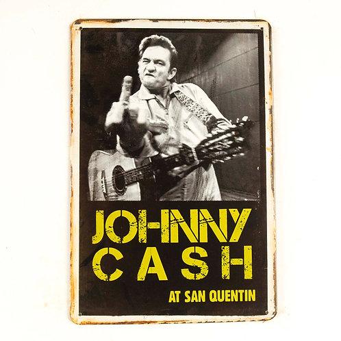 Johnny Cash Tin Sign