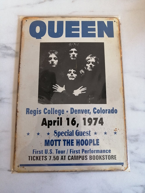 Queen Tin Sign