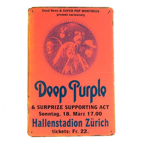 Deep Purple Tin Signs