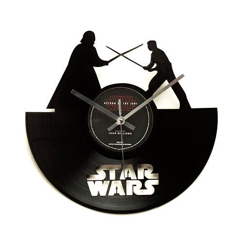 Star Wars - Luke & Darth Vader Cut Vinyl Clock