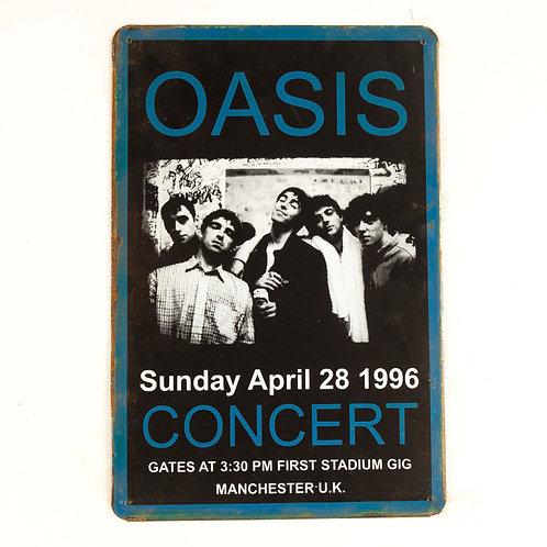 Oasis Tin Sign