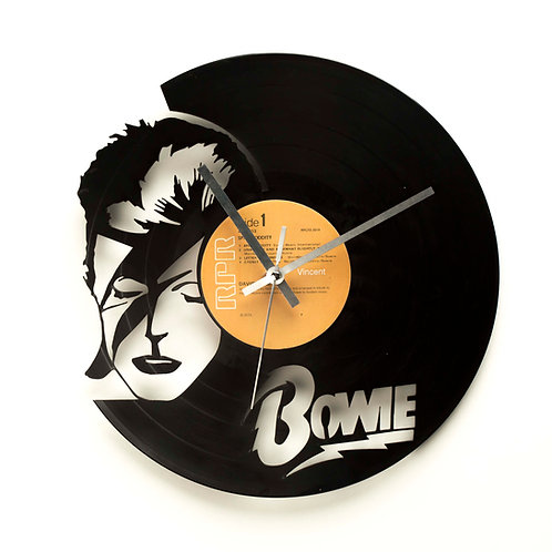 "David Bowie ""Ziggy Stardust"" Cut Vinyl Clock"