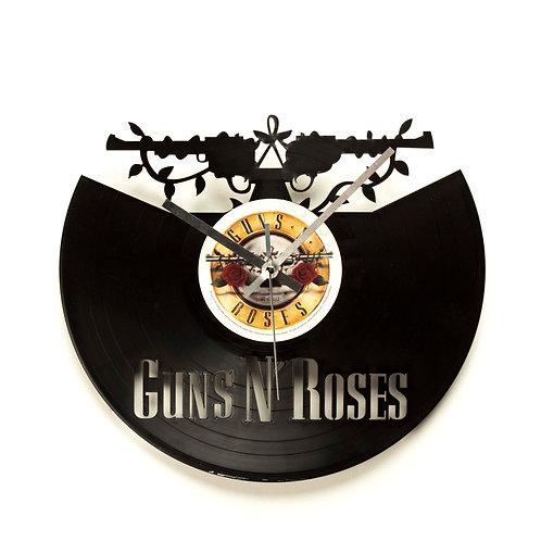Guns N' Roses Cut Vinyl Clock