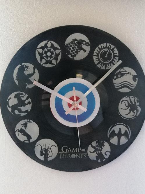 Game of Thrones Carved Vinyl Clock