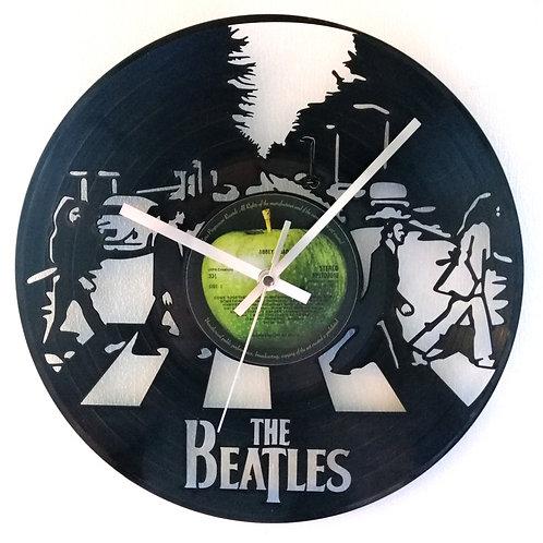 "The Beatles ""Abbey Road"" Album Cover Cut Vinyl Clock"