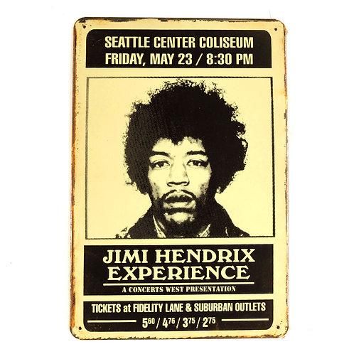 Jimmi Hendrix Tin Sign