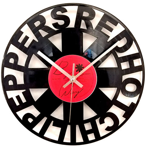 Red Hot Chilli Peppers Carved Record Clock