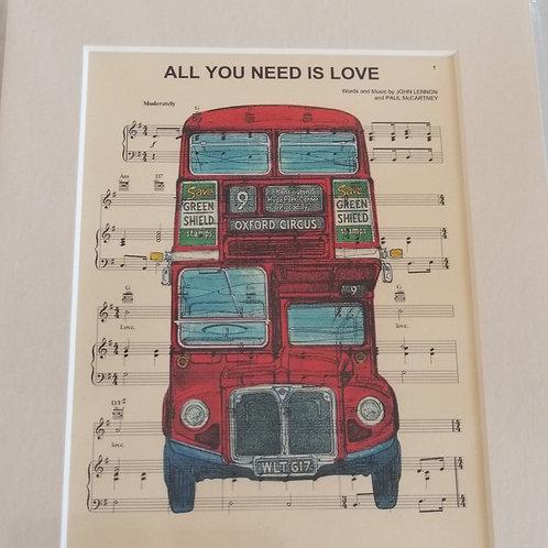 The Beatles Sheet Music Print