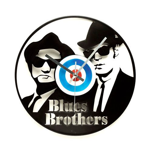 The Blues Brothers Carved Vinyl Clock