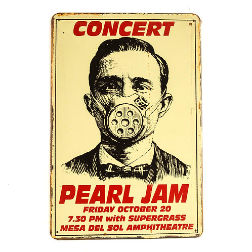 Pearl Jam Tin Sign