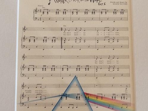 Pink Floyd Sheet Music Print