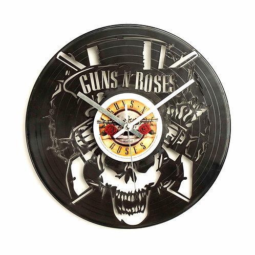 Guns N' Roses Skull Cut Vinyl Clock