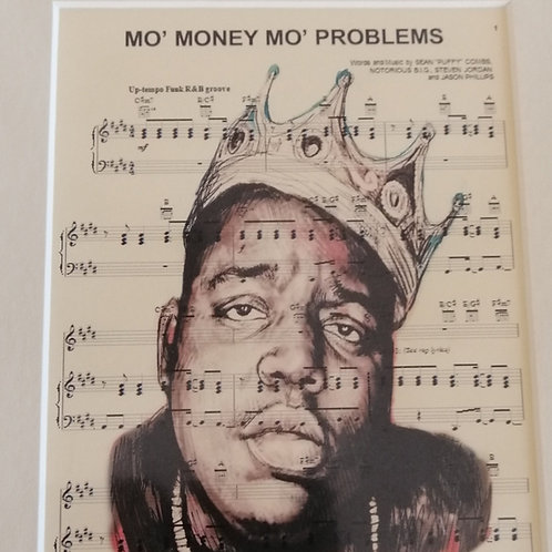 Biggie Sheet Music Print