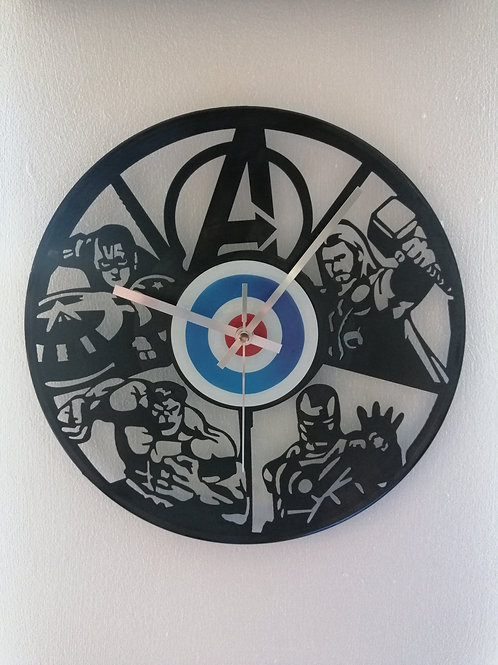 Avengers Carved Vinyl Clock