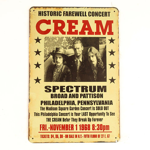 Cream Tin Sign