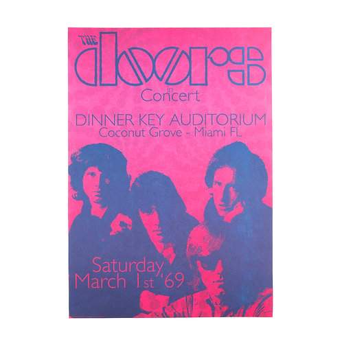 The Doors live in Miami Poster