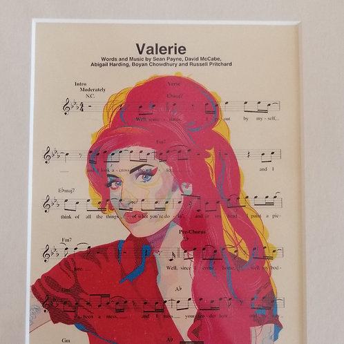 Amy Winehouse Sheet Music Print