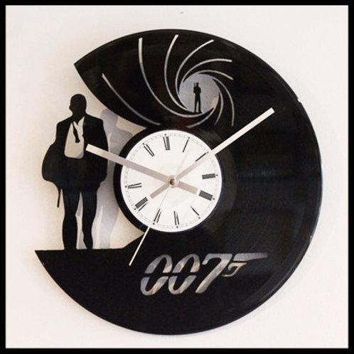 "James Bond ""007"" Cut Vinyl Clock"