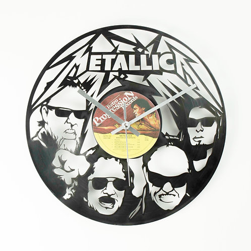 Metallica band clock