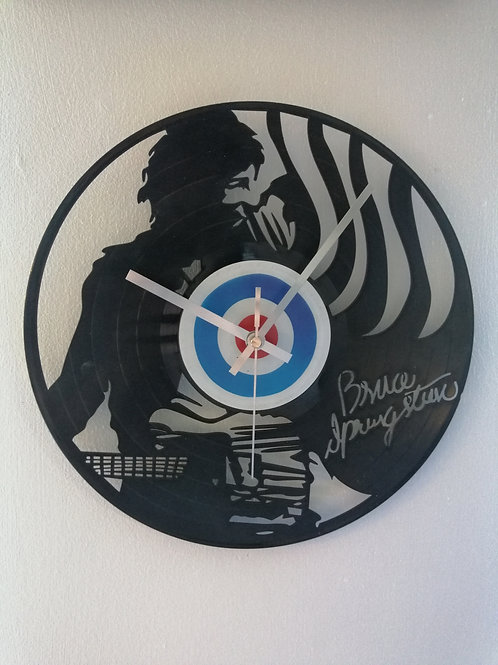 Bruce Springsteen Carved Vinyl Clock