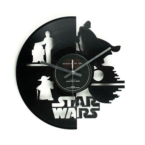 Star Wars - Light vs Dark Side Cut Vinyl Clock