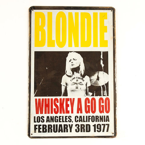 Blondie Tin Sign