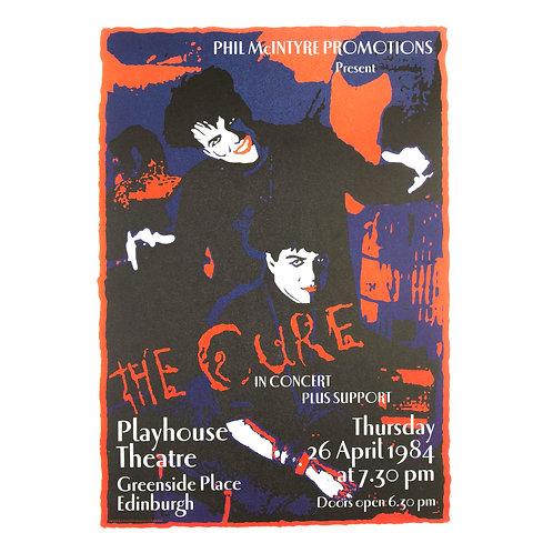 The Cure Edinburgh Concert Poster