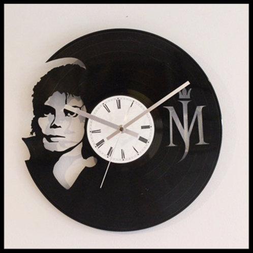 "Michael Jackson ""King of Pop"" Cut Vinyl Clock"