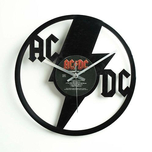 AC/DC Cut Vinyl Clock
