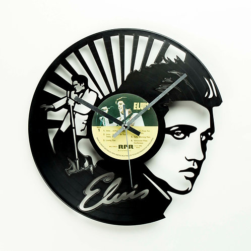 Elvis Presley Carved Vinyl Clock