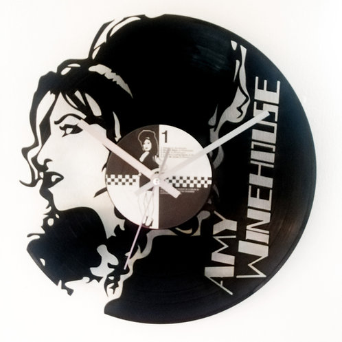 Amy Winehouse Cut Vinyl Clock