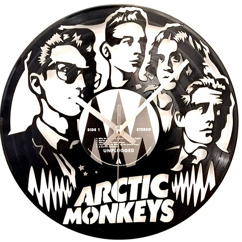 Arctic Monkeys Carved Record Clock