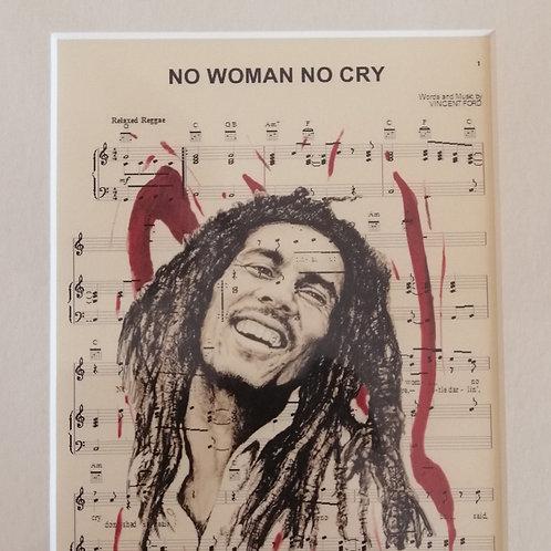 Bob Marley Sheet Music Print